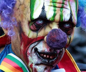 clown and scary image