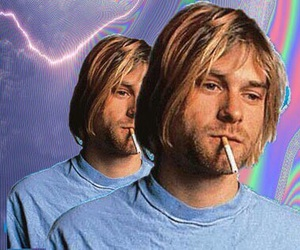 grunge, kurt cobain, and nirvana image