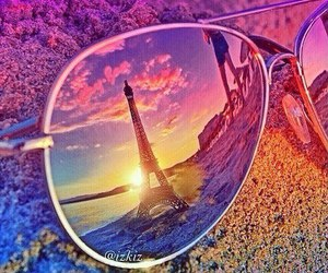 paris, summer, and sunglasses image