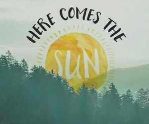 george harrison, here comes the sun, and the beatles image