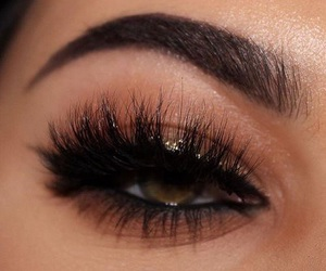 makeup, eyebrows, and fashion image