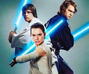 Anakin Skywalker, LUke, and anakin image