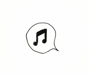 music, overlay, and black image