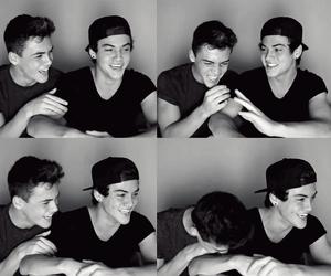 boys, eyes, and friendship image