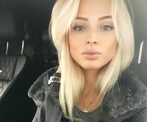 beauty, blonde, and lips image