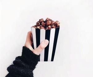 food, popcorn, and white image