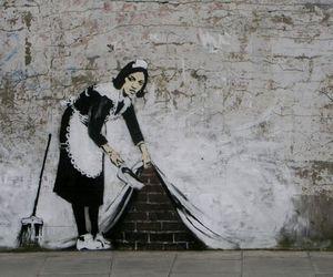 BANKSY, maid, and art image