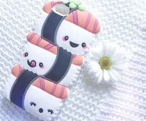 kawaii, sushi, and white image