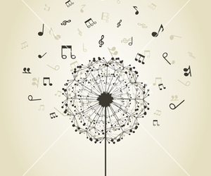 flower and music image