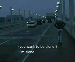alone, sad, and dark image