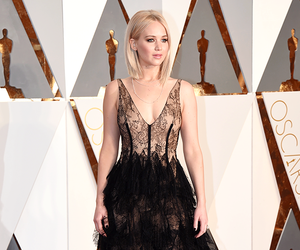 Jennifer Lawrence, oscar, and black image