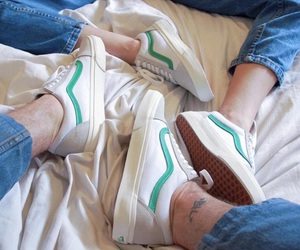 vans and white image