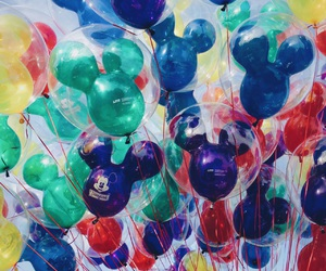 disney, mickey balloons, and disneyland image
