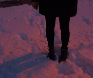grunge, photography, and snow image
