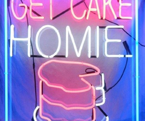 cake, neon, and homie image