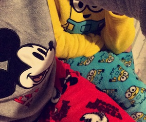 mickey, potes, and minions image