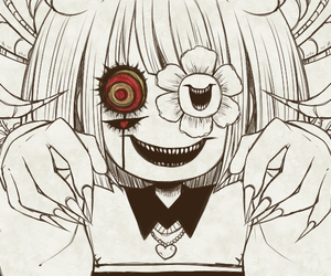 chara, flowey, and undertale image