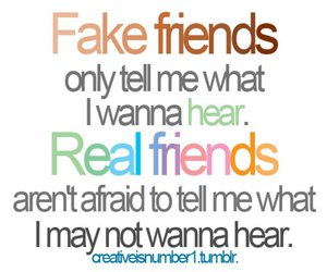 friends, fake, and real image
