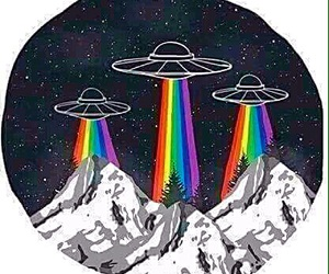 alien, hippie, and hipster image