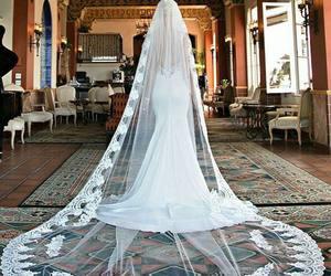 fashion, wedding, and wedding dress image