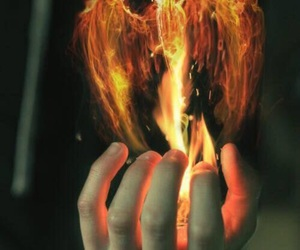 fire and hand image