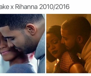 Drake, rihanna, and then and now image