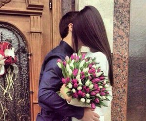 flowers, kiss, and love image