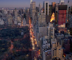 new york, Central Park, and night image