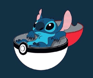 pokeball, pokemon, and stitch image