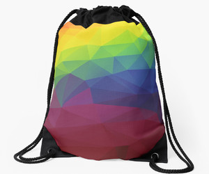 drawstring bag, bag, and unicorn image