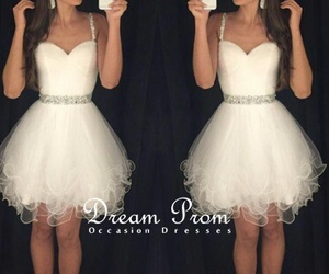 dress, withe, and dream prom image