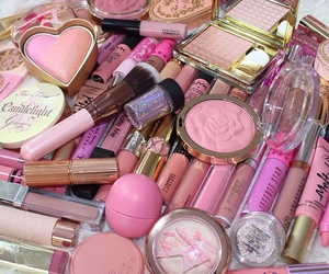 pink, makeup, and cosmetics image