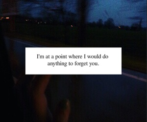 quote, sad, and he left image