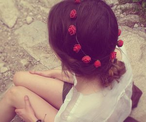 indie, mountains, and red roses image