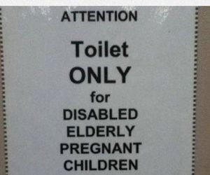 funny, store sign, and bathroom sign image