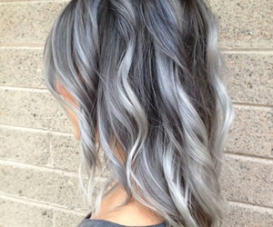 beauty, gray, and hair image