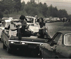 car, guitar, and boy image