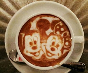 coffee, disney, and mickey image