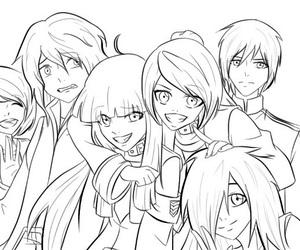 anime, girls, and smile image