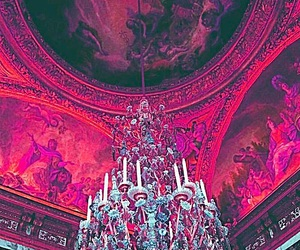 pink, chandelier, and architecture image