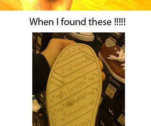 funny, math, and shoes image