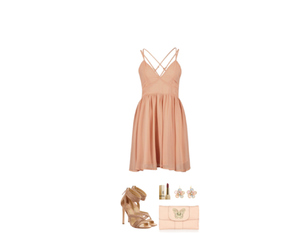 accessories, beige, and dress image