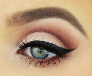 eyes, look, and makeup image
