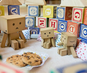 alphabet, Cookies, and danbo image