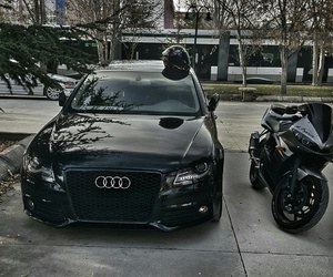 a4, audi, and black image