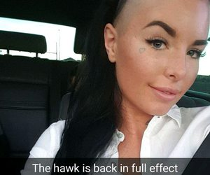 hairstyle, Mohawk, and christy mack image