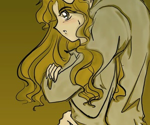 hermione, draco, and dramione image