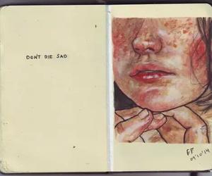 sad, art, and tumblr image