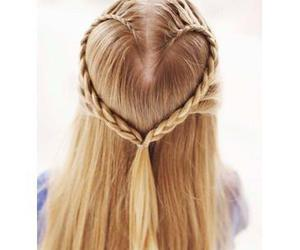 braids, hairstyle, and heart image
