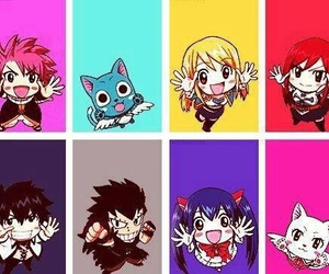 fairy tail, chibi, and happy image